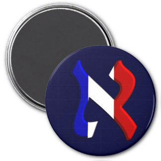 Aleph France.png 3 Inch Round Magnet