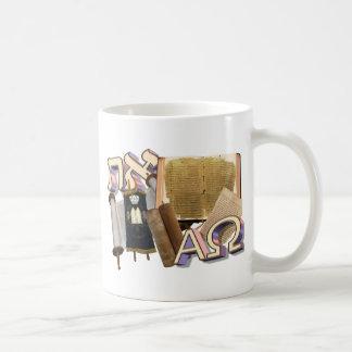 Aleph Tav/alfa y Omega Tazas De Café