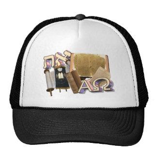 Aleph Tav Alpha Omega Trucker Hat