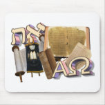 Aleph Tav / Alpha Omega Mouse Pad
