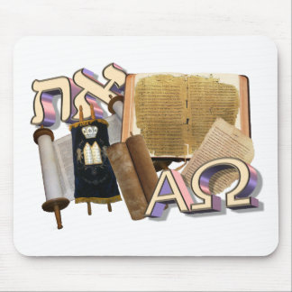 Aleph Tav / Alpha Omega Mousepads
