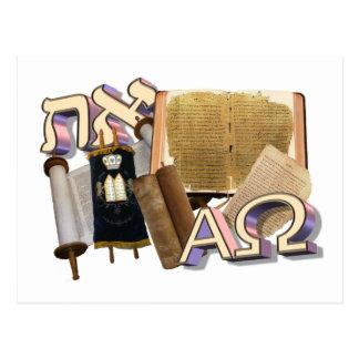 Aleph Tav/Omega alfa Tarjeta Postal