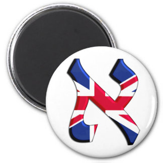 Aleph Uk.png 2 Inch Round Magnet