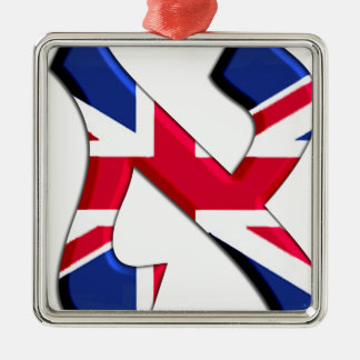 Aleph Uk.png Square Metal Christmas Ornament