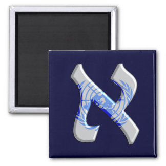 Aleph United Naions.png 2 Inch Square Magnet