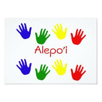 Alepo'i 5x7 Paper Invitation Card