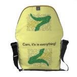 Alergénicos del maíz en su bolso. (gráficos extern bolsas messenger