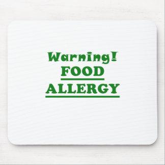 Alergia alimentaria amonestadora mousepads
