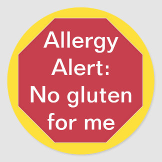 Alergia Allert:  Ningún texto del personalizable Pegatina Redonda