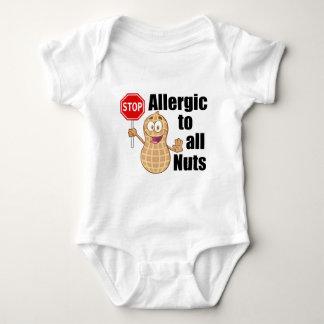 Alergia de la nuez body para bebé