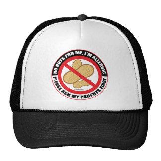 Alergia de la nuez gorras