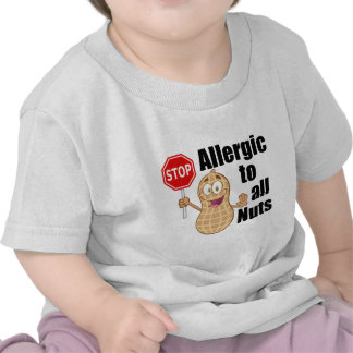 Alergia de la nuez camisetas