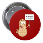 Alergia del cacahuete (personalizable) pin