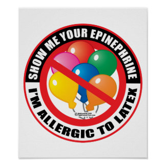 Alergia del látex posters