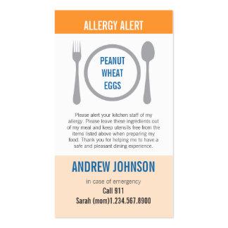 Alergia Duotones anaranjado alerta Tarjeta De Visita