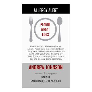 Alergia Duotones gris alerta Tarjetas De Negocios