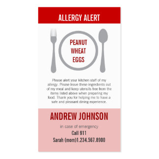Alergia Duotones rojo alerta Tarjetas De Visita