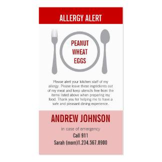 Alergia Duotones rojo alerta Tarjeta De Visita