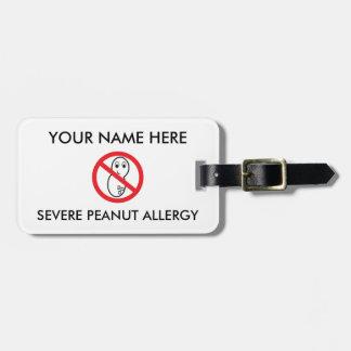 Alergia ID/ICE del cacahuete Etiquetas Para Maletas