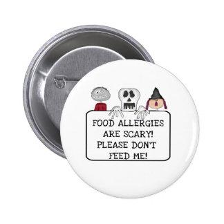 Alergias alimentarias de Halloween Pin Redondo 5 Cm