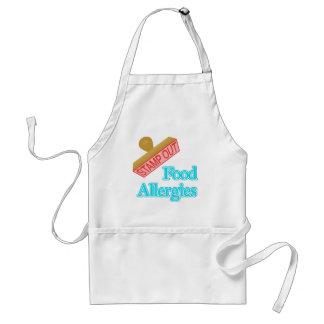Alergias alimentarias delantales