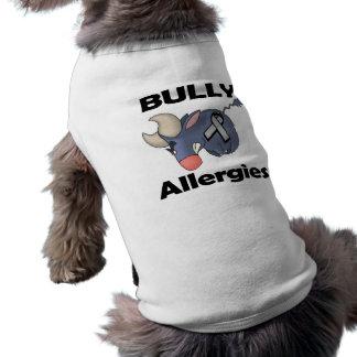 Alergias del matón playera sin mangas para perro