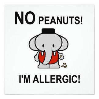 Alérgico a los cacahuetes anuncio personalizado