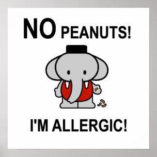 Alérgico a los cacahuetes impresiones