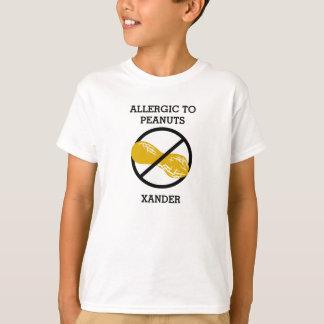 Alérgico a los cacahuetes personalizados no remeras