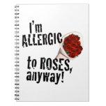 Alérgico a los rosas Vday anti Libro De Apuntes Con Espiral
