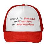 Alérgico a lunes gorro de camionero