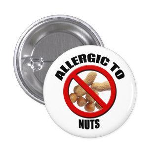 Alérgico al botón alerta médico Nuts de Sml Pin Redondo De 1 Pulgada