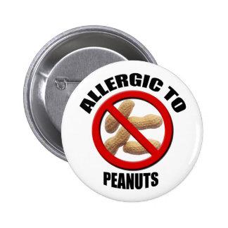 Alérgico al botón médico del Std de la alarma de l Pin Redondo De 2 Pulgadas