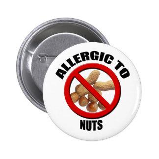 Alérgico al botón médico Nuts del Std de la alarma Pin Redondo De 2 Pulgadas