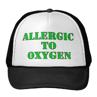 Alérgico al oxígeno gorro de camionero