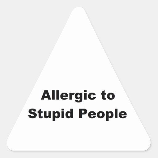 Alérgico Pegatina Triangular