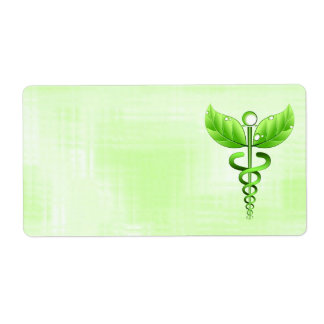 Alernative Medicine Caduceus Medical Labels Personalized Shipping Labels