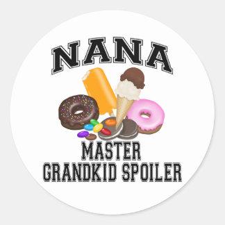 Alerón Nana del Grandkid Etiquetas Redondas