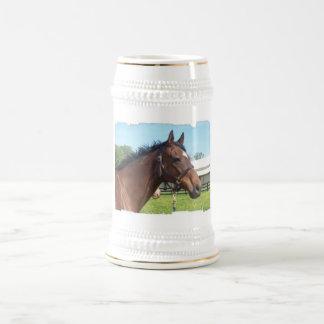 Alert Arab Horse Beer Stein
