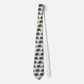 Alert Arab Horse Men's Necktie