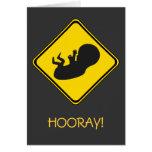 Alert: Baby Ahead! Greeting Card