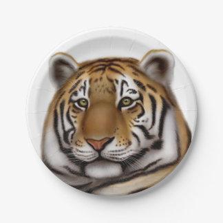 Alert Bengal Tiger Paper Plates