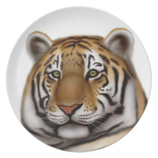 Alert Bengal Tiger Plate