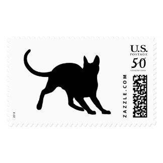 Alert Black Kitty Postage