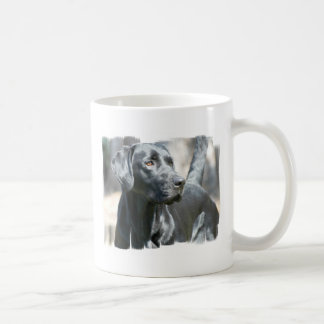 Alert Black Lab Coffee Mug