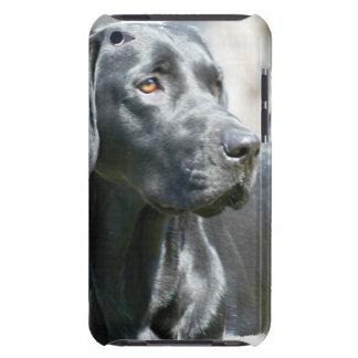 Alert Black Labrador Retriever Dog iTouch Case iPod Case-Mate Cases