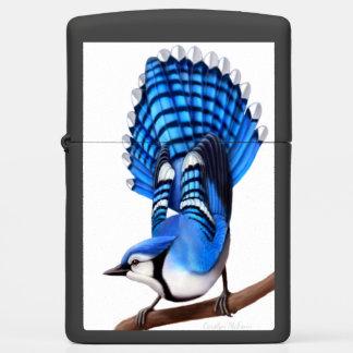 Alert Blue Jay Bird Zippo Lighter