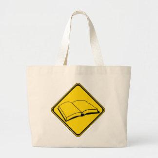 Alert: Books Ahead! Large Tote Bag