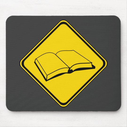 Alert: Books Ahead! Mouse Pad