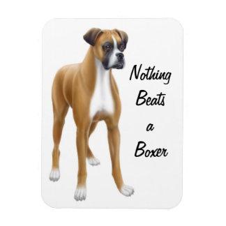 Alert Boxer Dog Premium Magnet